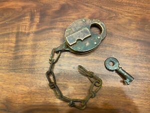 PPR Pennsylvania Railroad Fraim Pad Lock With Key