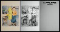Raphael Soyer Seamstress I Portfolio Hand Signed/Num 2 Lithograph Social Realist