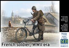 Master Box 1/35 soldado francés con Bicicleta-segunda Guerra era Nº 35173