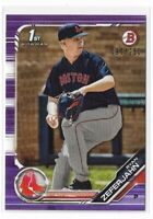 2019 Bowman baseball paper purple parallel /250 #BD-16 Ryan Zeferjahn Boston