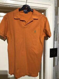 "Ralph Lauren Mens Orange Polo Shirt Size Medium 38"" Chest"
