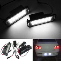 2 LED License Number Plate Light For VW PASSAT JETTA POLO Skoda SUPERB Seat LEON