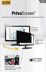 Fellowes PrivaScreen Privacy Filter for 20.1 Inch Widescreen Monitors 16:10