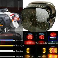 Smoke LED Rear Tail Light Brake For Harley Tour Road King Softail Sportster 883
