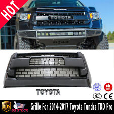 For 2014-2017 Toyota Tundra Front Grille Gloss Black Bumper Grill Guard Emblem