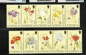 Guernsey 2000 Flowers set mint