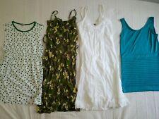 Lot 4 robe taille S M 36 38 / blanc bleu-vert gris fleur étoile / vet femme TBE