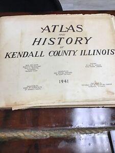 1921 Atlas And History Of Kendall County, Illinois. Oliver Johnson, Anna Johnson