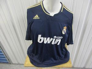 VINTAGE ADIDAS REAL MADRID F.C. NAVY SEWN 2XL JERSEY 2007/08 KIT LA LIGA SPAIN