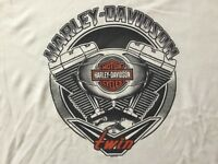 Harley Davidson V Twin White Shirt Nwt Men's XXL