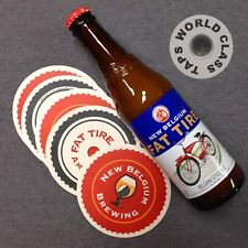 NEW BELGIUM FAT TIRE ALE beer bottle tap handle marker KEG knob BAR bicycle