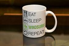 EAT SLEEP Windsurf Sublimation Mug Birthday Gift Sail Sport Hobby Personalised