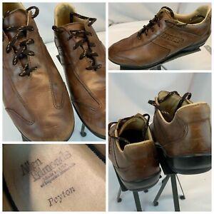 Allen Edmonds Peyton Fashion Sneakers Sz 10 D Brown Leather Lace EUC YGI D1S-4