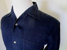 Ralph Lauren Purple Label Black 100% Linen Casual Dress Long Sleeved Shirt Sz M