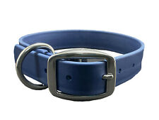 BioThane EASY CLEAN Waterproof NAVY BLUE Dog Collar w Stainless MADE IN USA
