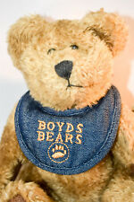 Boyds Bears: Bosley - 9 inch plush - Light Brown withBlue Jean Bibb