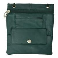"""Vallemosso Fashion Women's Small leather Purse Shoulder Bag Pockets Smooth 7""""x5"""""""