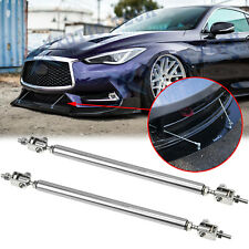 2x Adjust Front Bumper Lip Splitter Rod Strut Tie Bars for Infiniti G37 Q50 Q60