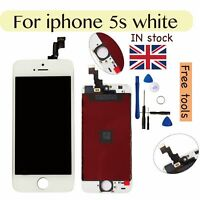 Apple For iPhone 5S Replacement LCD glass Screen Digitizer White with Tools