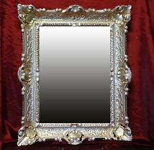 Gold Silber Bilderrahmen Fotorahmen Rahmen mit Glas Barock Antik 30*40 bilder