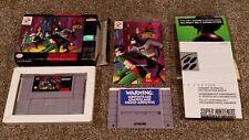 The Adventures of Batman & and Robin Super Nintendo SNES Game CIB Complete lot!!
