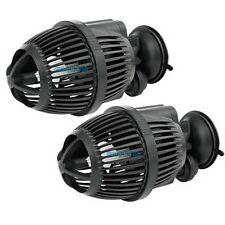 2 PCS 800 GPH Aquarium Powerhead Circulation Pump Wave Maker Suction Cup Mount