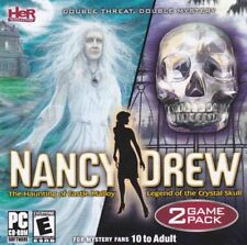 Nancy Drew (2 PC Games) Haunting of Castle Malloy & Legend of the Crystal Skull