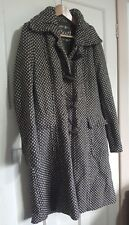 South Collection Brown Tweed Wool Blend Duffle Coat Size 14 Warm Winter