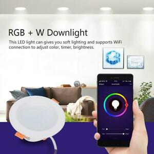 WiFi Smart Bulb Voice App Control RGB+W LED Downlight Ceiling Light Indoor Lamp