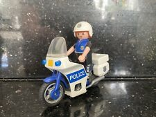 Playmobil Policeman And Motorcycle