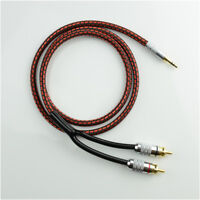 Monster Audio Cable Stereo 3.5mm male to 2 RCA Gold Plated for MP3 CD DVD IPOD