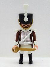 Hussard Marron Blanc Soldat D Playmobil à Officier Royal Garde Chevalier Custom