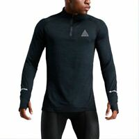 Mens A-mont Long Sleeve Quick Dry Under Base Layer Compression Sport Gym T-Shirt