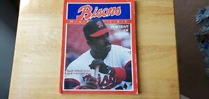 1989 Buffalo Bisons Souvenir Program Nissan Roster Reggie Williams