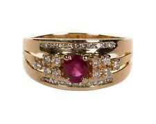 Ring in Gold 750 mit Rubin & 0,42 ct. Brillanten 10,44 g RW 64 (D1646)