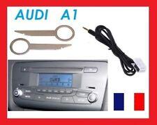 Cable JACK Auxiliaire MP3 autoradios d'origine Audi A1 + cles extraction