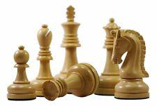 "Augusta Series Premium 4.125"" Staunton Chess Set in Pure Ebony and Box Wood"