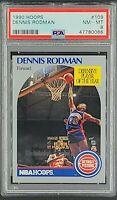 1990 Hoops #109 Dennis Rodman HOF Defensive Player of the Year PSA 8 NM-MT