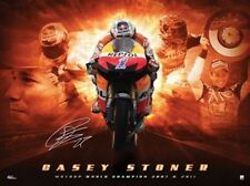 CASEY STONER SIGNED DUAL MOTO GP 2007 & 2011 LIMITED EDITION PREMIUM PRINT