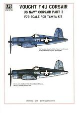 LPS Decals 1/72 VOUGHT F4U CORSAIR U.S. Navy Fighter Part 3