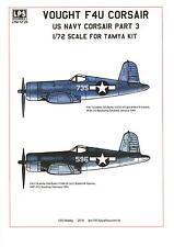 LPS Decals 1/72 VOUGHT F4U CORSAIR U.S. Navy Fighter Part 3