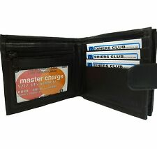 Scan and RFID Proof Leather Wallet Credit Debit Card Holder Zipped Coin Section
