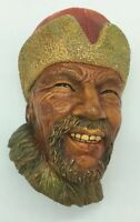 Vintage Bossons Himalayan Face Head England Chalkware