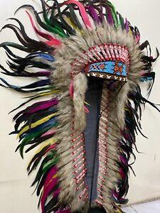 Great Long Indian Headdress Burning Man Coachella Lollapalooza Costume Festival