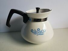Corning Ware Cornflower Blue Tea Pot Teapot Vintage
