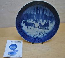Royal Copenhagen Christmas Plate 1984. Jingle Bells. Ideal Birth Year Gift