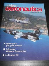 riv. AERONAUTICA 5 1993 - aerei tattici e strategici, Quale spesa, aerogrammi