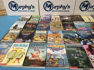 Lot of 25 Children's Kids Chapter Books Instant Library Unsorted FREE SHIPPING!