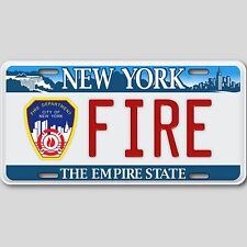 New York City Fire Department Novelty Aluminum License Plate Tag Metal New