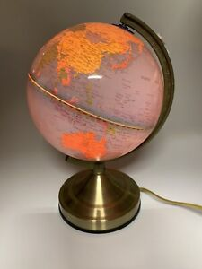 Touch Light Up Globe Rotating World Map  Desktop Tabletop Night Light